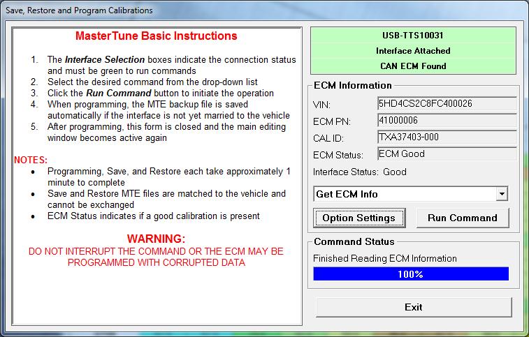 MasterTune2-HD Software