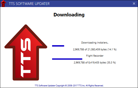 Software Updater Downloading